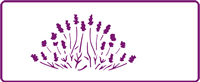 350 mm x 140 mm Border Stencil Lavender