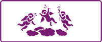 350 mm x 140 mm Border Stencil Cherubs
