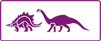 350 mm x 140 mm Border Stencil Dinosaurs