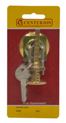 Brass Faced Nightlatch Cylinders with 2 Keys