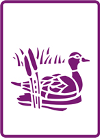 180 mm x 250 mm Standard Stencil Reed Duck