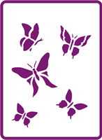 180 mm x 250 mm Standard Stencil Butterfly Collection