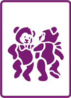 180 mm x 250 mm Standard Stencil Dancing Teddies