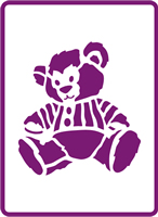180 mm x 250 mm Standard Stencil Sitting Teddy