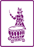 180 mm x 250 mm Standard Stencil Indian Drummer