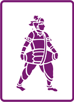 180 mm x 250 mm Standard Stencil Walking Drummer