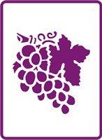 180 mm x 250 mm Standard Stencil Grape Bunch