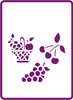 180 mm x 250 mm Standard Stencil Fruit Collection