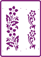 180 mm x 250 mm Standard Stencil Passion Flower