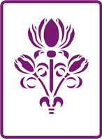 180 mm x 250 mm Standard Stencil Lotus Spray
