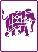 180 mm x 250 mm Standard Stencil Indian Elephant