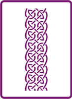 180 mm x 250 mm Standard Stencil Celtic Border 2
