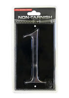 Gloss Black Number Plaque 1