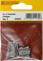 18 x 20 x 3 mm No 3 Hammer Wedge Packet of 2