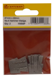 22 x 22 x 3.5 mm No 4 Hammer Wedge Packet of 2