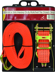 50 mm x 8m Heavy Duty Ratchet Tie Down 1.5 tonne Capacity.