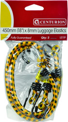 18 inch Luggage Elastics 8 mm Packet of 2
