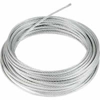 8 mm 7x7 10m Wire Rope Zinc Plated