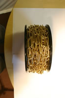 3 mm x 30m reel Electro Brass Standard Chain