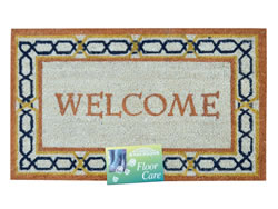 45 x 75 cm Brown Shaded Welcome Coir Mat Patterns may vary.