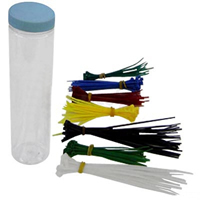 150 piece Assorted Cable Ties In Jar