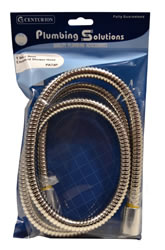 1 / 2 inch BSP 1.5 metres Chrome Plated Flexible Shower Hose