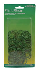 27 mm 1mm plastic PVC Coated Heavy Duty Plant Rings Packet of 50