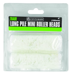 100 mm 4 inch Long Pile Mini Roller Heads Packet of 2