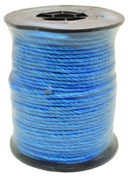 6 mm x 220m Blue Polypropylene Rope Reel