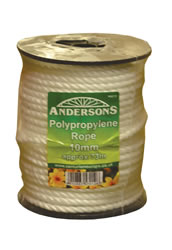 10 mm x 73m White Polypropylene Rope Reel