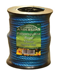 10 mm x 73m Blue Polypropylene Rope Reel