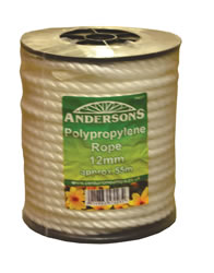 12 mm x 55m White Polypropylene Rope Reel
