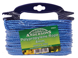 4 mm x 30m Multi Blue Poly Rope