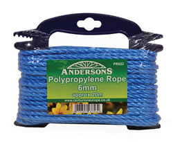 6 mm x 20m Multi Blue Poly Rope