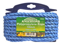 10 mm x 10 metre Multi Blue Poly Rope
