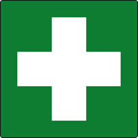 First aid symbol labels 50 x 50mm Roll of 500