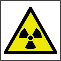 Radiation symbol labels 50 x 50mm Roll of 250