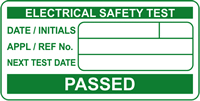 PASSED Electrical safety test labels 50 x 25mm Roll of 500