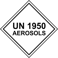 UN1950 Aerosols labels 100 x 100mm Roll of 250