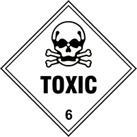 Toxic 6 labels 100 x 100mm Roll of 250