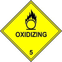 Oxidizing 5 labels 250 x 250mm Pack of 10