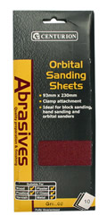 Coarse Orbital Sanding Sheets small Packet of 10