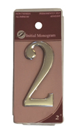 2 inch Silver Effect Numeral 2