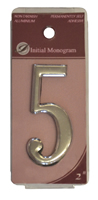 2 inch Silver Effect Numeral 5