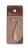 2 inch Silver Effect Numeral 7