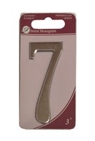 3 inch Silver Effect Numeral 7