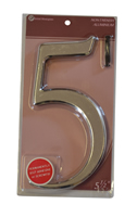 5 1 / 2 inch Silver Effect Numeral 5