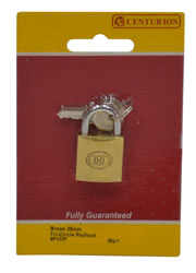25 mm Brass Tri-Circle Padlock