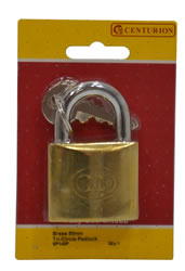 50 mm Brass Tri-Circle Padlock