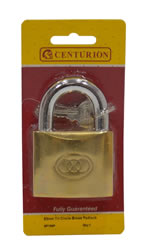 63 mm Brass Tri-Circle Padlock